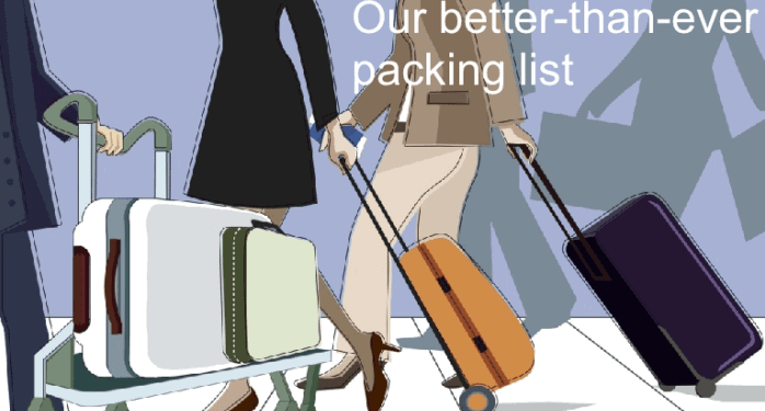The best packing list for busy moms