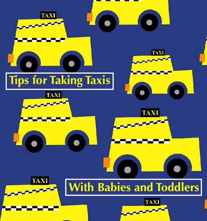 Tips for finding and taking a taxi with kids in a city you don't know. #taxi #vacation #kids #baby #boosterseat #carseat #cab