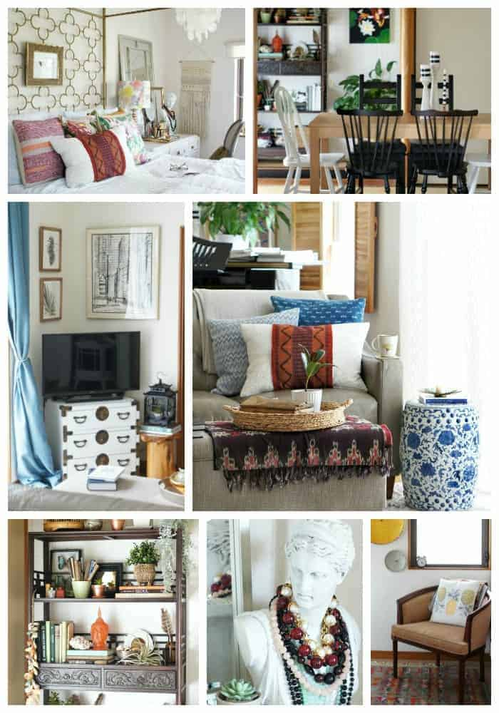 global eclectic style with rental friendly DIYs