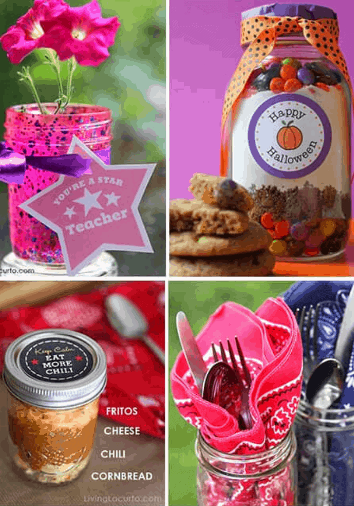 50 Mason Jar Crafts and Recipes by Living Locurto