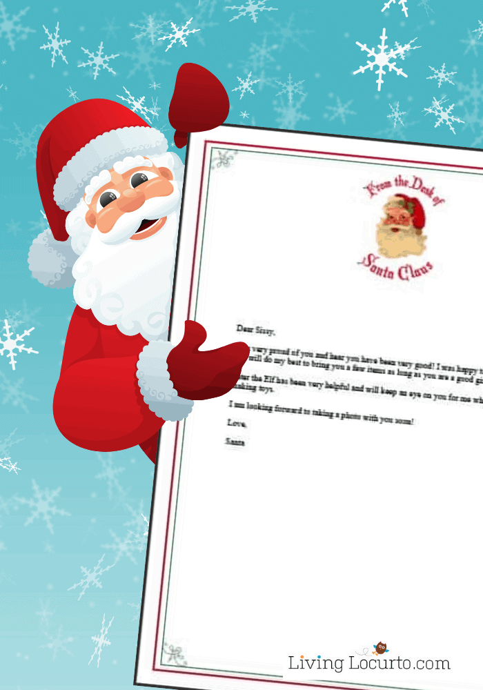 Letter from Santa - Personalize a Free printable Santa letter template