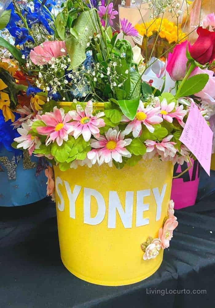 Cheer Drill Team Dance Flower Buckets Gift