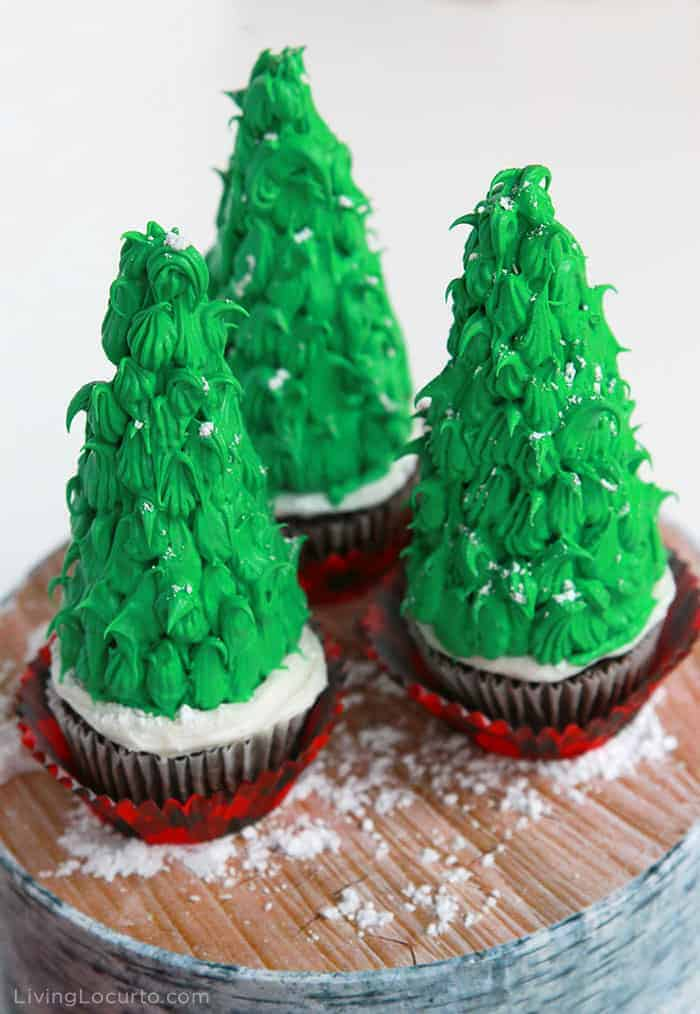 Easy Christmas Tree Cupcakes - Fun Holiday Dessert Recipe - Living Locurto