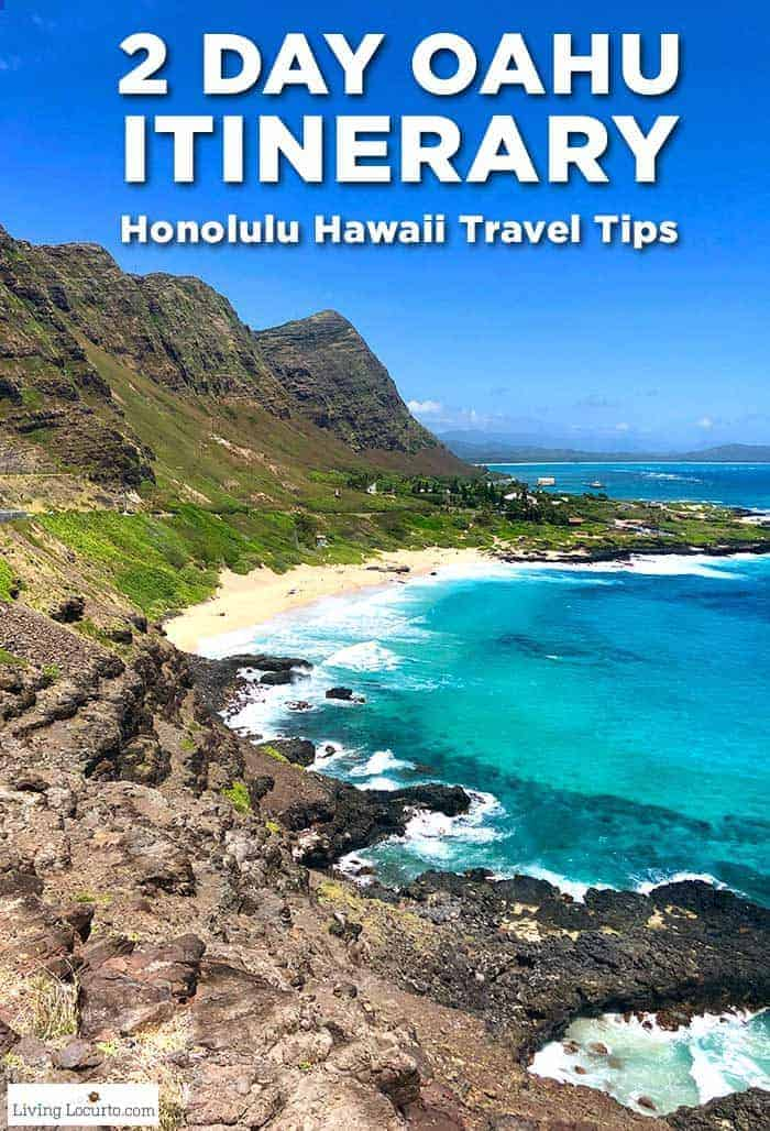 A 2 Day Oahu Itinerary for the best things to do and eat when visiting Hawaii. Honolulu travel tips with alternatives to Waikiki Beach. #hawaii #oahu #honolulu