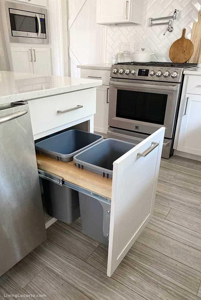 Kitchen Cabinet Organization Ideas Double Trash Can