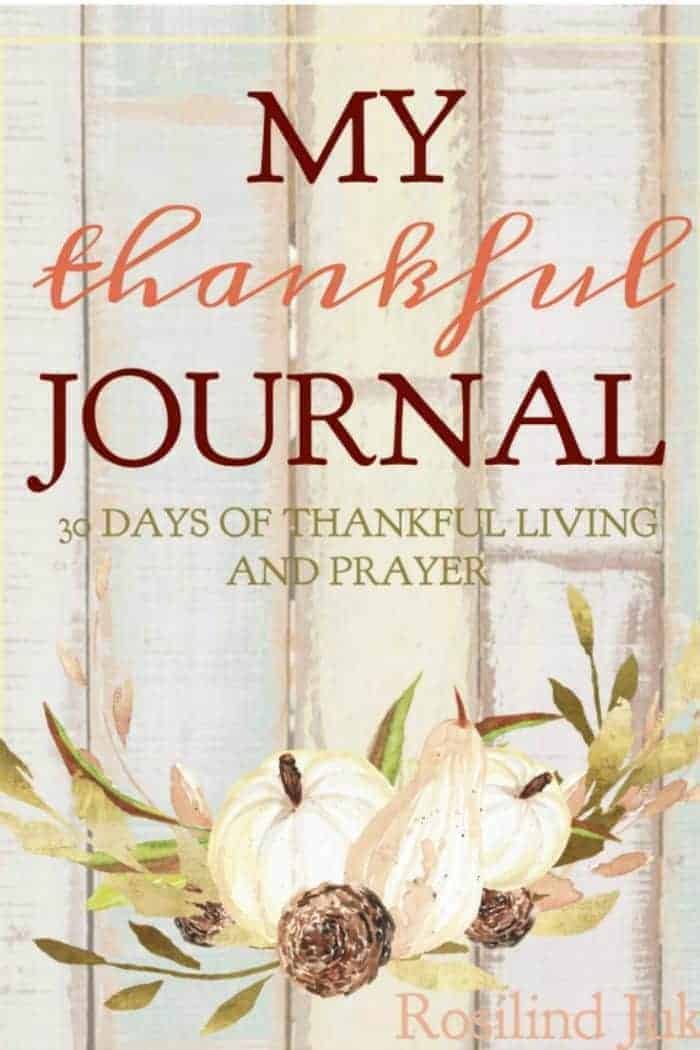 The My Thankful Journal is a 30 page journal with room for Scripture writing, listing things you are thankful for, and prayer journaling. #alittlerandr #thanksgiving #journaling #prayer #Bibleverses