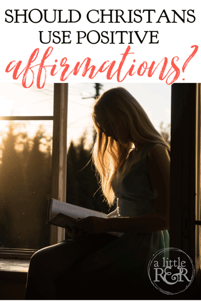 Should Christians use positive affirmations to resolve stress or build self-worth? What about using positive Bible verses as affirmations. Here's the answer. #alittlerandr #positiveaffirmations #meditation #selfcare
