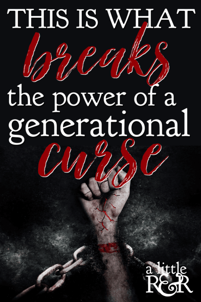 If you see destructive behavior repeated in your family lineage, there may be a generational curse. Here is how you can break power that and walk free. #alittlerandr #generations #curse #onlineBiblestudy #Biblestudyforwomen #John #Jesus #Easter