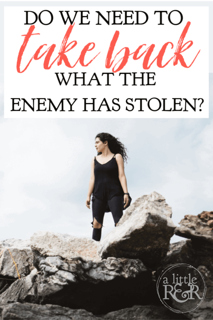 We hear Christians talk about taking back what the enemy has stolen. What does the Bible have to say and how should we respond in seasons of difficulty? #alittlerandr #Bible #spiritualwarfare