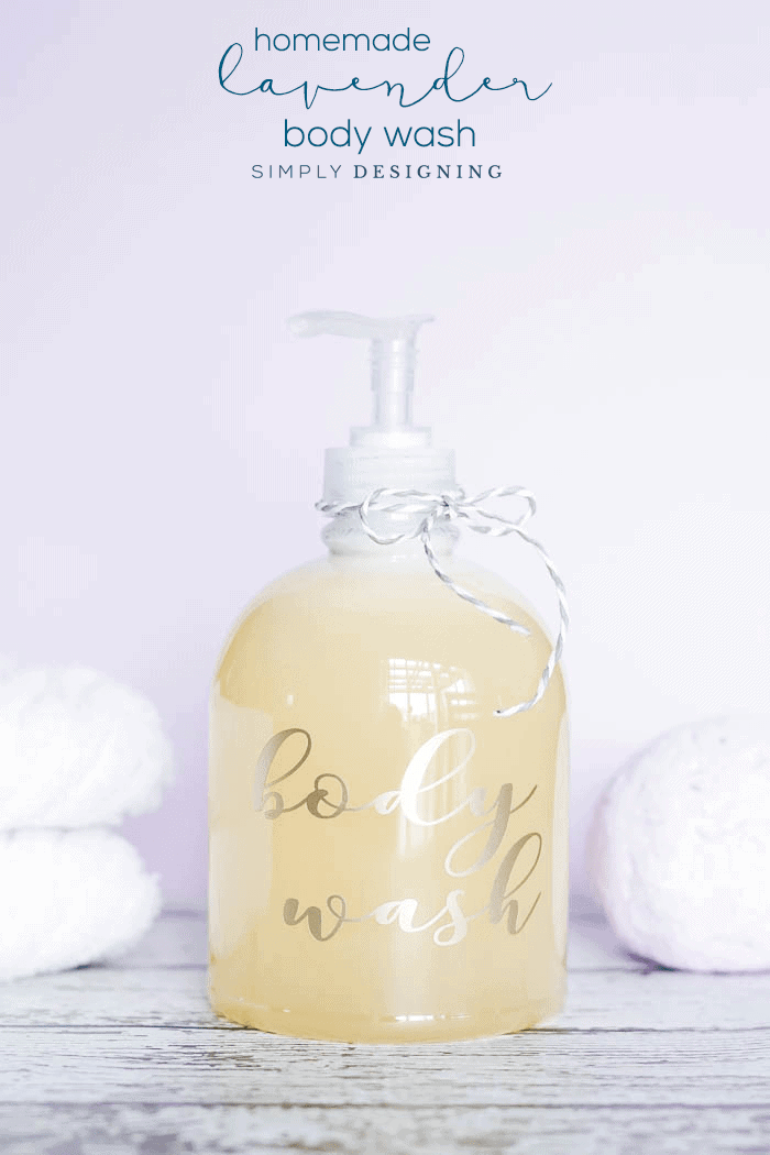 DIY Lavender Body Wash Recipe - an easy homemade body wash recipe - all natural body wash