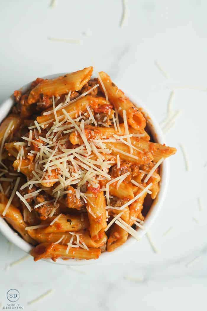 Instant Pot Ziti with ground beef