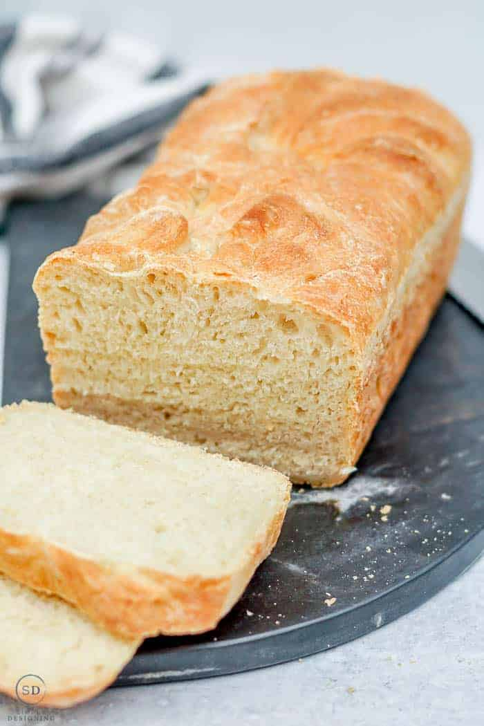 bread white artisan bread cut into slices