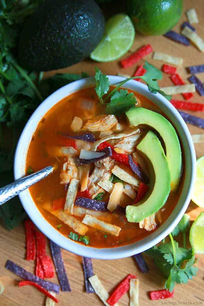 Instant Pot Chicken Tortilla Soup - Easy Dinner Recipe by Living Locurto