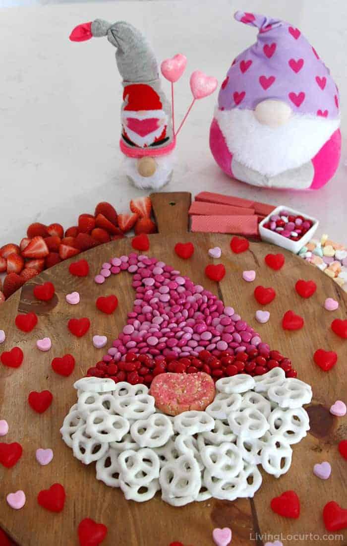 Valentine Gnome Dessert Charcuterie Candy Board