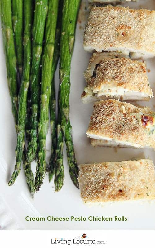 Easy Cream Cheese Pesto Baked Chicken Rolls Recipe at LivingLocurto.com