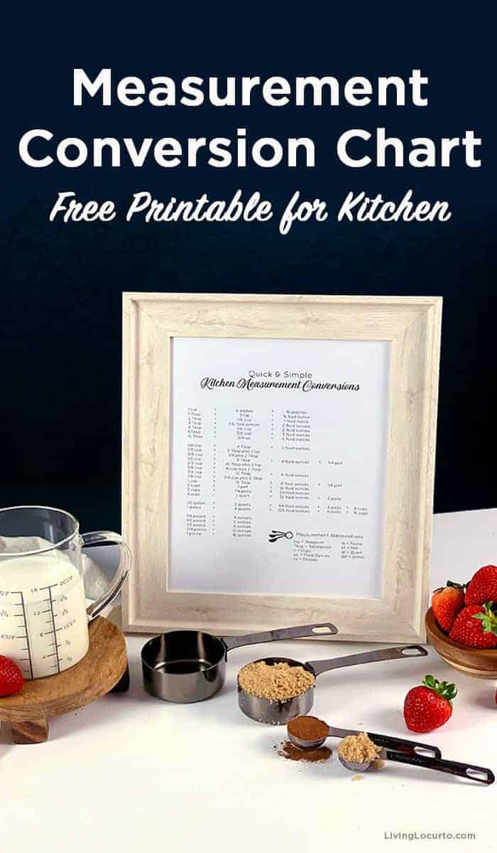 Measurement Conversion Chart Printable - Kitchen Tool for Dry and Liquid Measurements