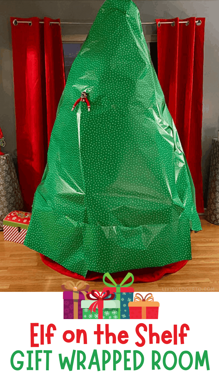 Elf on the Shelf Gift Wrapped Room Funny Elf Ideas