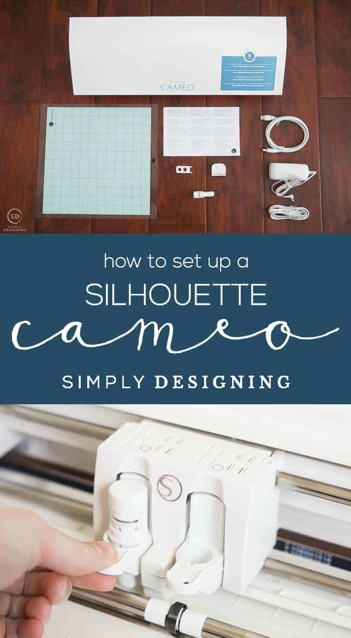 How to Set up a Silhouette CAMEO - answering all the questions about what comes with a Silhouette CAMEO 3 and how to set it up