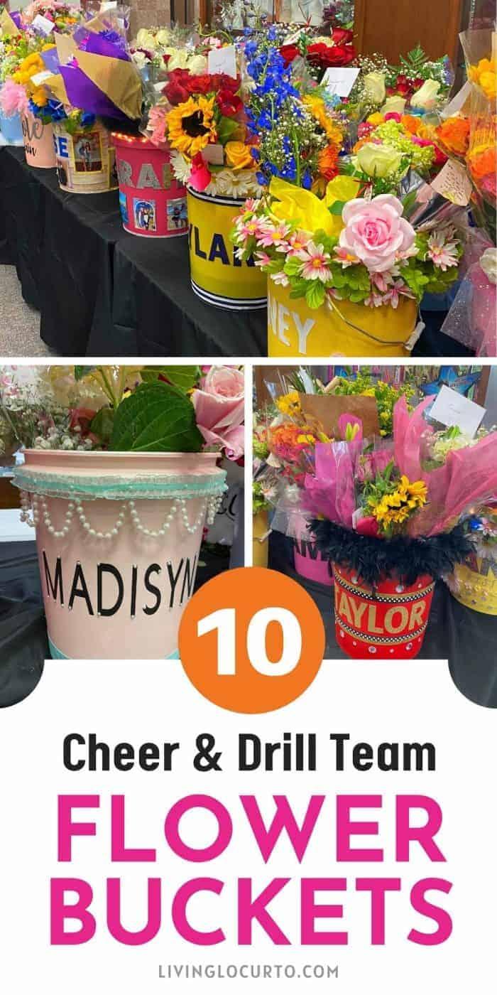 Cheer Drill Team Flower Buckets Team Ideas