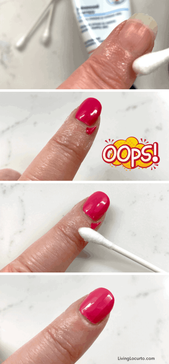 How to Get Perfect Nail Polish - Steps for fixing nail polish on finger