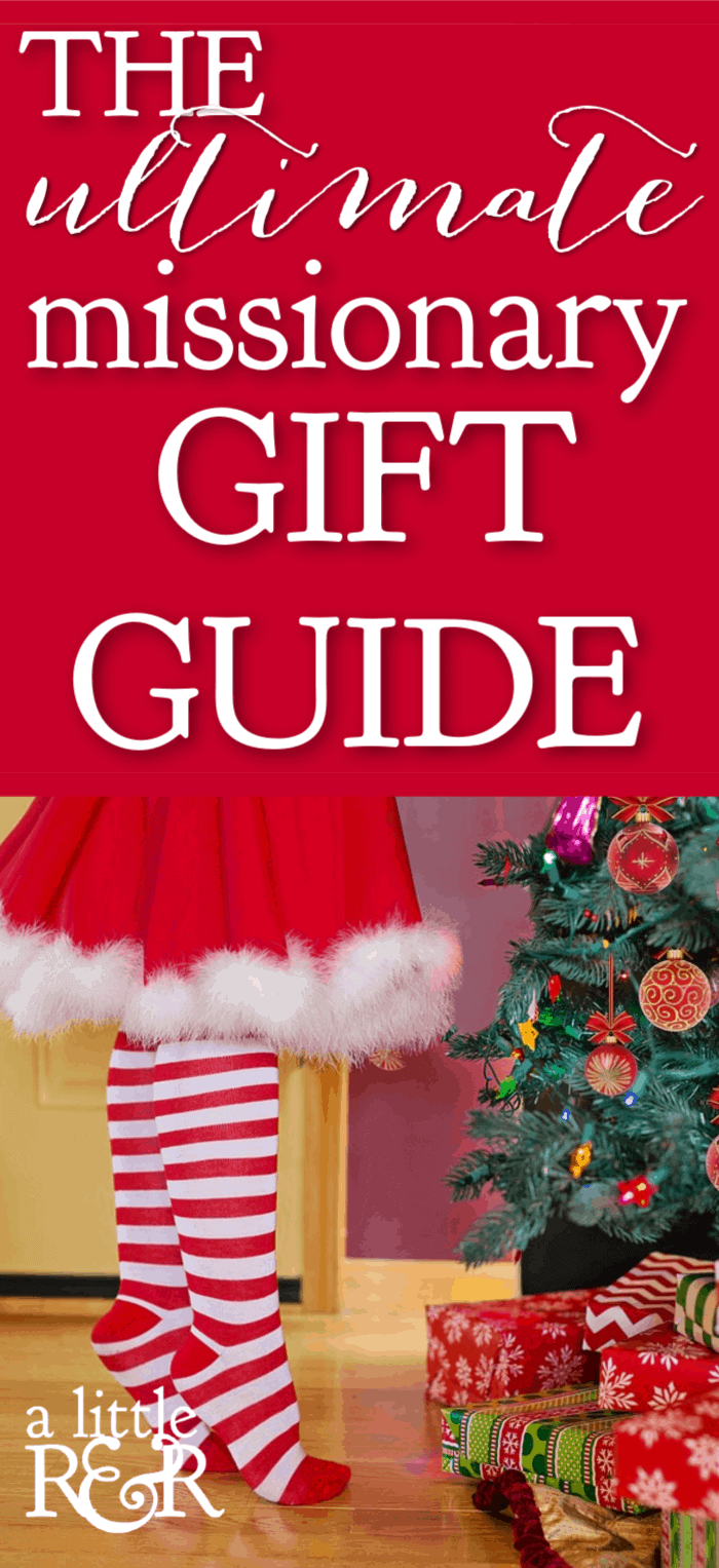 Surprise a missionary this Christmas with a fun, creative, and meaningful gift. Here is the Ultimate Missionary Gift Guide written by a missionary. #alittlerandr #missionary #gift #giftguide