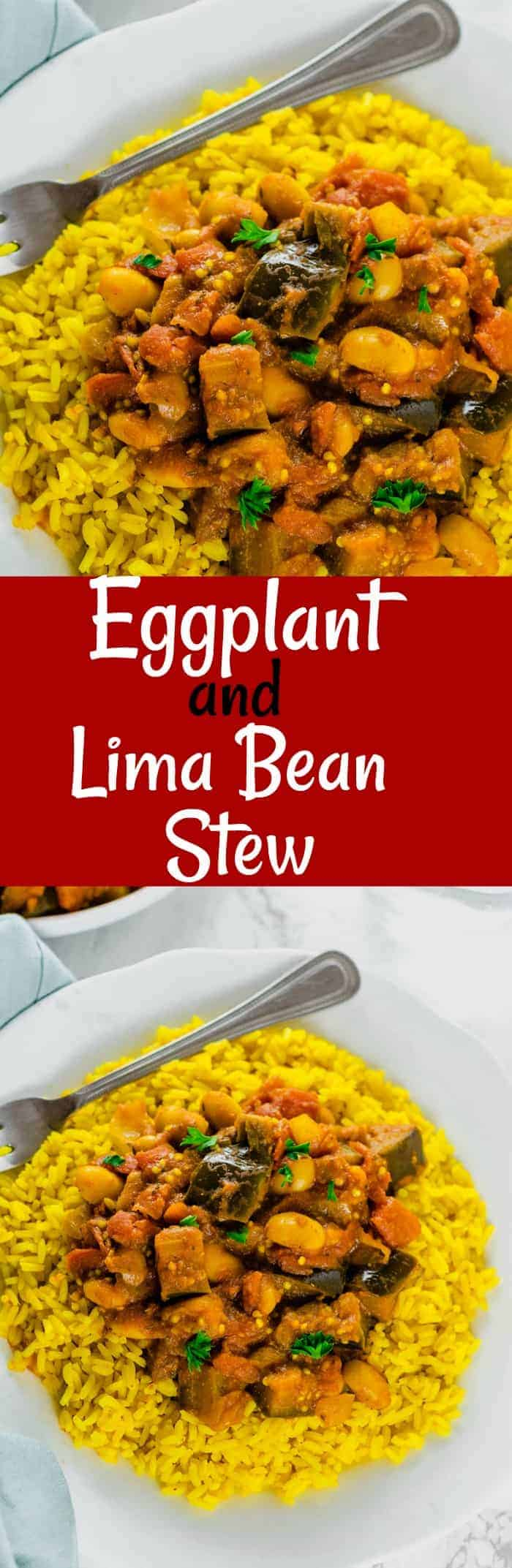 Eggplant And Lima Bean Stew Pin