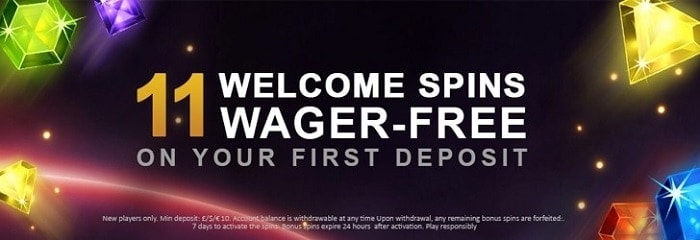 11 free spins without wager conditions