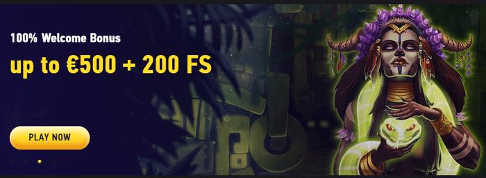 200 FS and 500 euro free bonus
