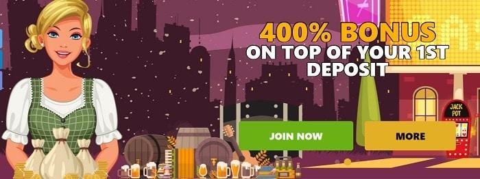 400% Bonus and 50 Free Spins