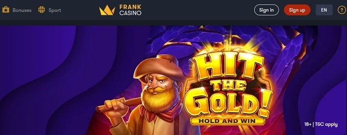 Frank Casino free money