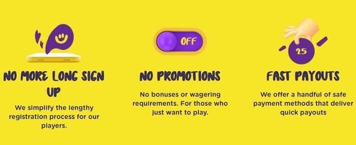 Fast Sign up! No Bonuses! Fast Payouts!