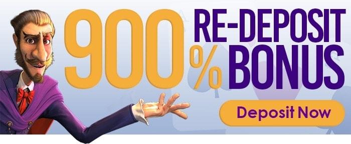 900% Re-Deposit Bonus