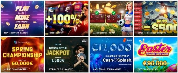 888Starz latest bonuses and promotions