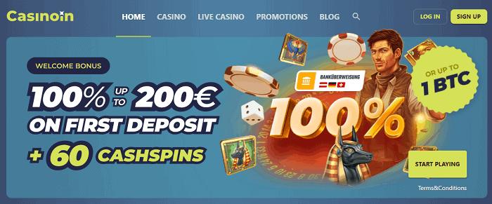 100% bonus and 60 free spins