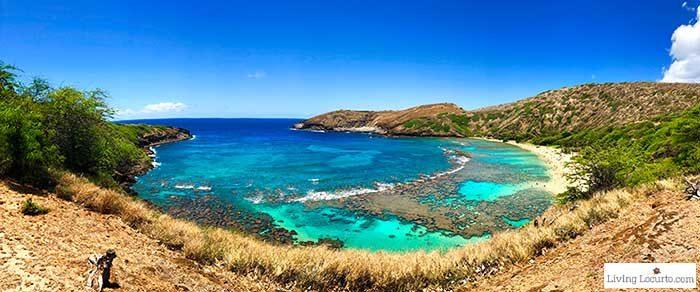 Scenic View of Hanauma Bay - 2 Day Oahu Itinerary - Honolulu Hawaii Travel Tips - Living Locurto