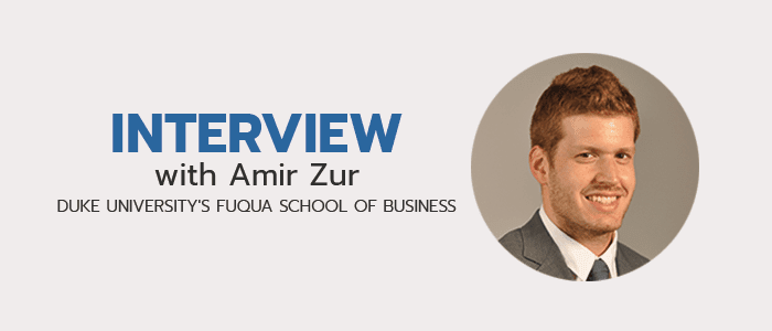 Read more of our interviews with MBA students!
