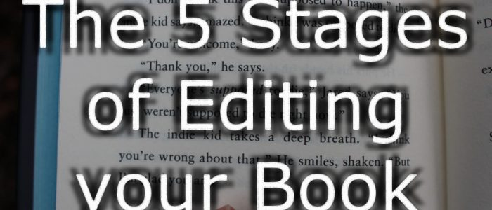 five stages of editing your book