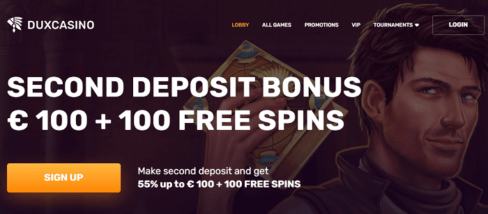 Dux 100 free spins