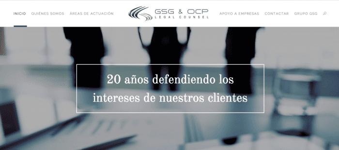 GSG & OCP Legal Counsel estrena nuevo portal