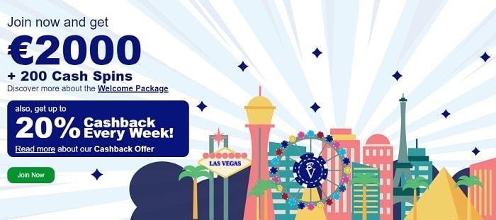Blue Vegas Casino Welcome Bonus