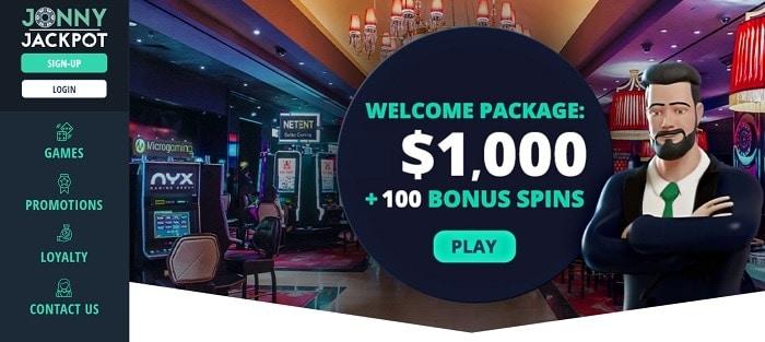 Exclusive Welcome Bonus to JonnyJackpot Casino!