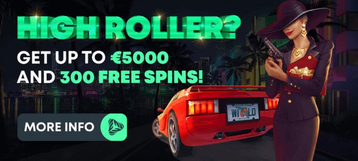 High Roller welcome bonus