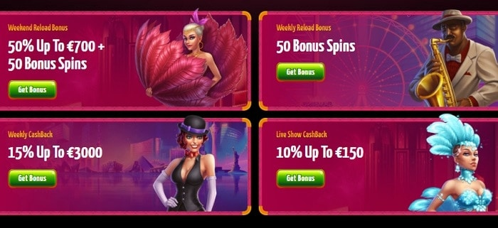 Promotions: free spins and reload bonuses