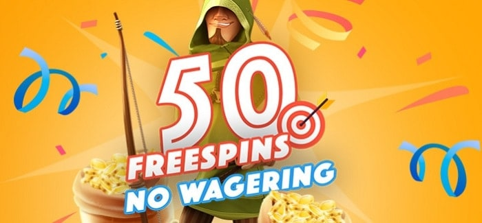 50 free spins no wagering
