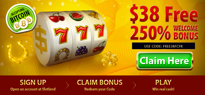 250% welcome bonus and free spins