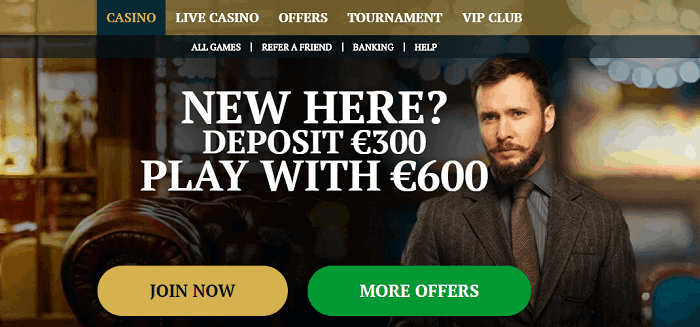 Join now and double your first deposit.