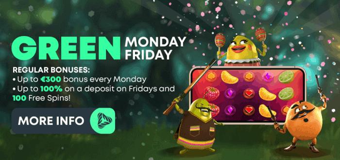 Monday and Friday Reload Bonus