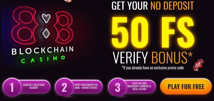 50 free spins on account verification