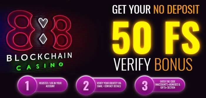 Verify your account and get 50 exclusive free spins