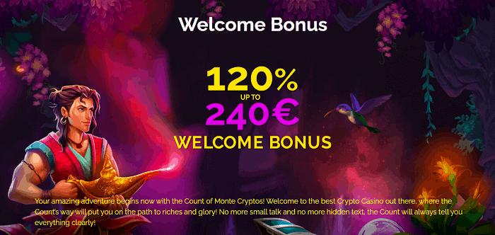 120% bonus and 50 gratis spins